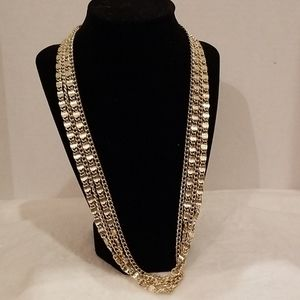 Sarah Covington 4 strand gold necklace